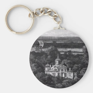 Palace on the Water in Warsaw by Bernardo Bellotto Basic Round Button Keychain