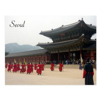palace seoul march postcard