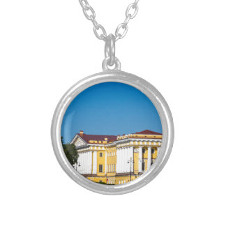 Palace Square St Petersburg Russia Silver Plated Necklace