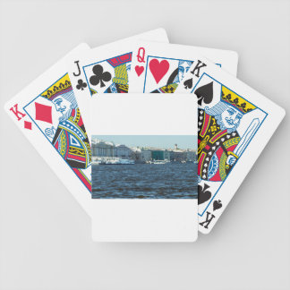 palaces on neva river St Petersburg Russia Poker Deck