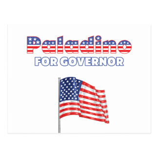 Paladino for Governor Patriotic American Flag Postcard