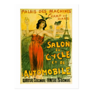 Palais Des Machines Champ de Mars Salon du Cycle Postcard