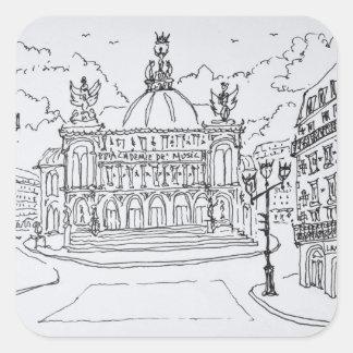 Palais Garnier Opera House | Paris, France Square Sticker