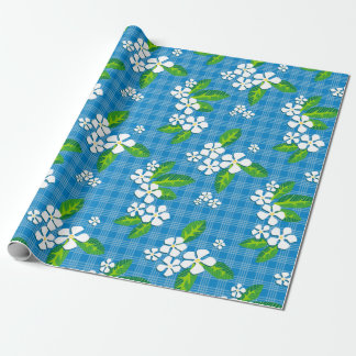 Palaka Plumeria Wrapping Paper
