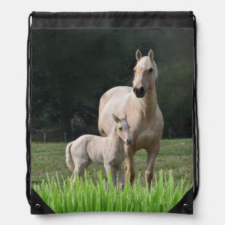 Palamino Mare And Colt Drawstring Bag
