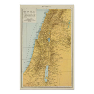 Palastina - Palestine Atlas Map Poster
