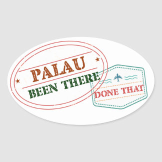 Palau Been There Done That Oval Sticker