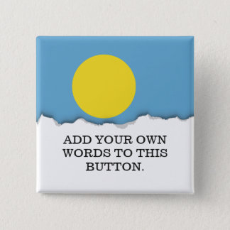 Palau Flag 2 Inch Square Button