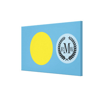 Palau Flag Canvas Print