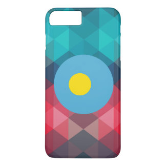 Palau flag circle on modern bokeh iPhone 7 plus case