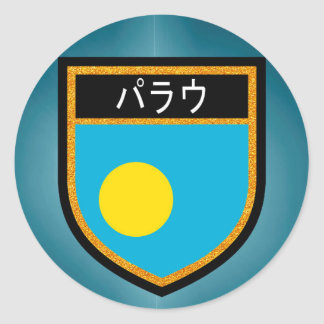 Palau Flag Classic Round Sticker