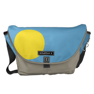 Palau Flag Courier Bags