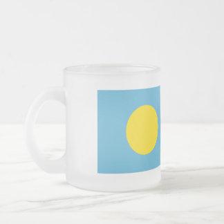 Palau Flag Frosted Glass Coffee Mug