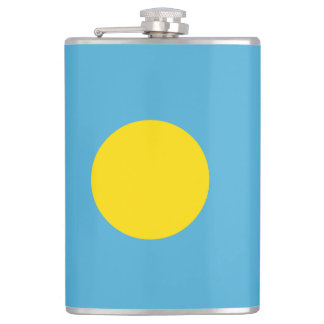 Palau Flag Hip Flask