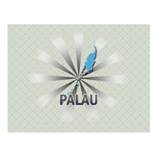 Palau Flag Map 2.0 Postcard