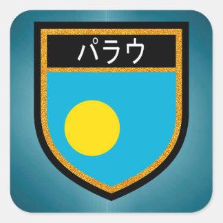Palau Flag Square Sticker
