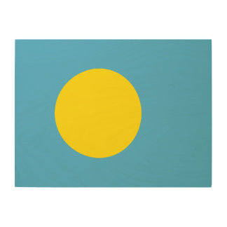 Palau Flag Wood Wall Art