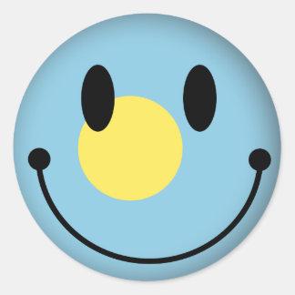 Palau Smiley Classic Round Sticker