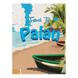 Palau vintage travel poster postcard