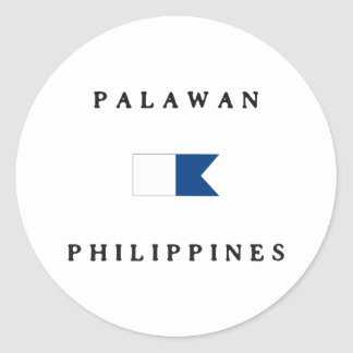 Palawan Philippines Alpha Dive Flag Classic Round Sticker
