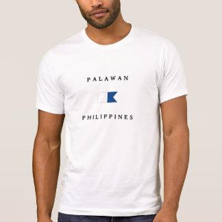Palawan Philippines Alpha Dive Flag T-shirt