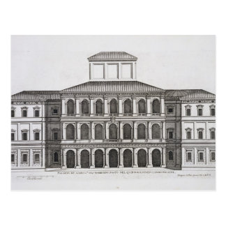 Palazzo Barberini on the Quirinale, finished 1630, Postcard