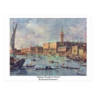 Palazzo Ducale In Venice By Guardi Francesco Postcard