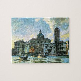 Palazzo Labia, Venice by Sargent, Vintage Fine Art Jigsaw Puzzle