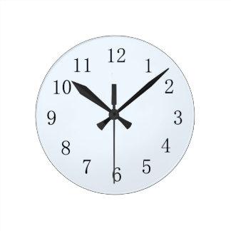 Pale Alice Blue Kitchen Clock