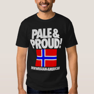 Pale and Proud Norway Norwegian-American Tee Shirts