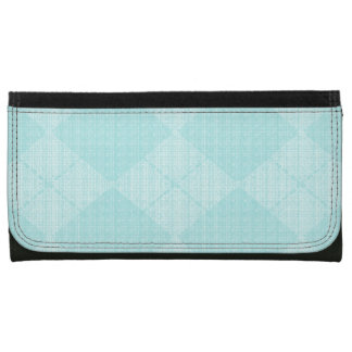 Pale-Aqua-Argyle-Wallet's-Multi-Styles Leather Wallet For Women