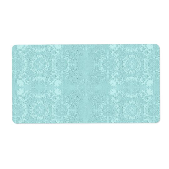 Pale Aqua Muted Vintage Lace Theme Shipping Label