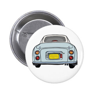 Pale Aqua Nissan Figaro Car Button Badge