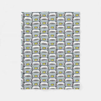 Pale Aqua Nissan Figaro Car Convoy Fleece Blanket