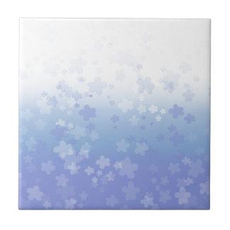 Pale Blossoms Blue Ceramic Tiles