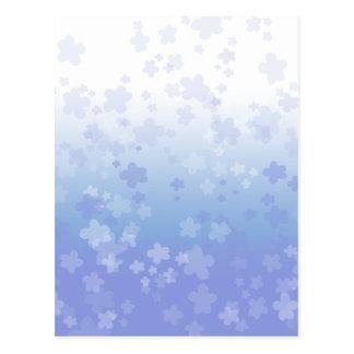 Pale Blossoms Blue Postcard