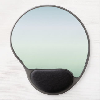 Pale Blue And Green Gradient Gel Mouse Pad