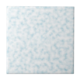 Pale Blue and White Abstract Clouds Pattern Ceramic Tile