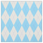 Pale Blue and White Argyle Pattern Fabric
