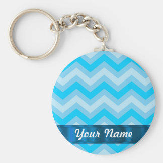 Pale blue chevrons keychain