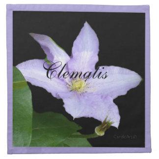 Pale Blue Clematis Cloth Napkins