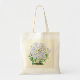 Pale Blue Flowers Tote Bag