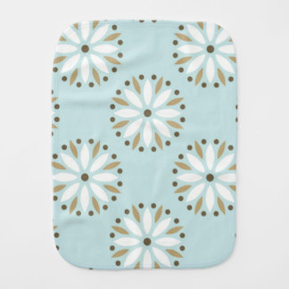 pale blue kawai floral pattern girly chic elegant baby burp cloths