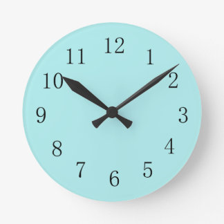 Pale Blue Kitchen Wall Clock