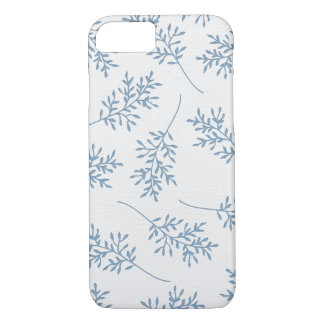 Pale Blue Leaves : iPhone 7 Case