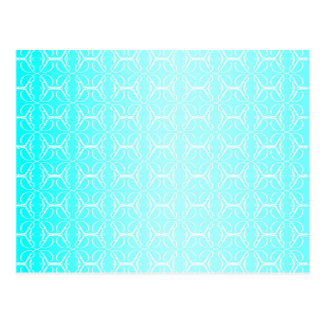 Pale Blue Linked Background Postcard