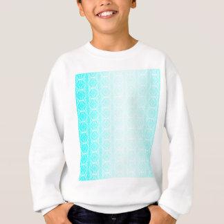 Pale Blue Linked Background Sweatshirt
