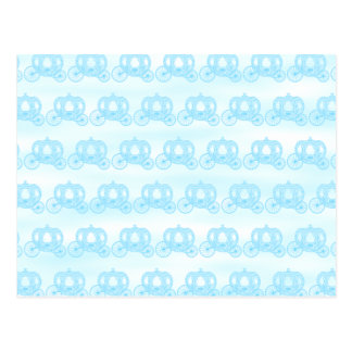 Pale Blue Pattern of Princess Carriages Postcard