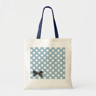 Pale Blue Polka Dot Art Tote Bag