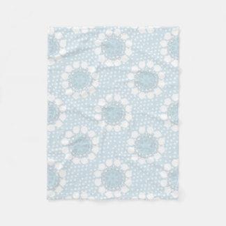 Pale Blue Polka Dot/Circles Fleece Blanket